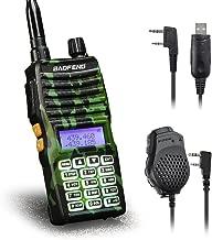 Baofeng - UV-5XTP 8W Dual Display VHF136-174MHz UHF400-520MHz Handheld Two-Way Radio Standby Transceiver Walkie Talkie+Dual PTT Mic Speaker+Programming Cable