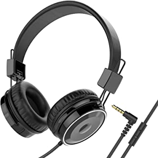 Baseman On Ear Headphones with Mic, Wired Head Phones for Laptops Computer Cellphone Tablet Stereo Bass Earphones with 3.5...