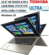 "Toshiba - Satellite Radius 2-in-1 15.6"" 4K Ultra HD Touch-Screen Laptop - Intel Core i7 - 12GB Memory - 256GB SSD - Carbon..."