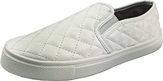 W Collection Slip on Fashion Sneakers White Sole Shoes Closed Toe