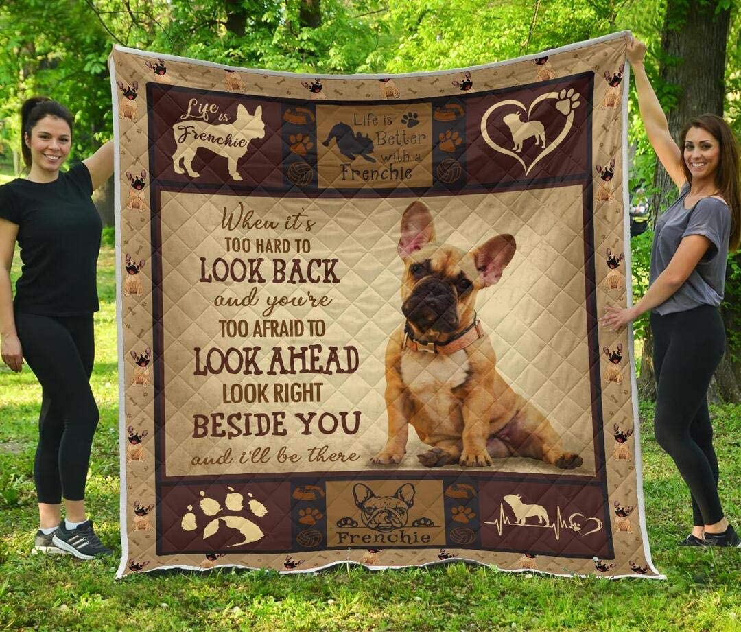 Personalized Frenchie Beside Quilt Baltimore Mall Custom Sets Translated Your