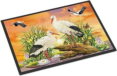 Caroline's Treasures Storks Door Mat doormats, Multicolor