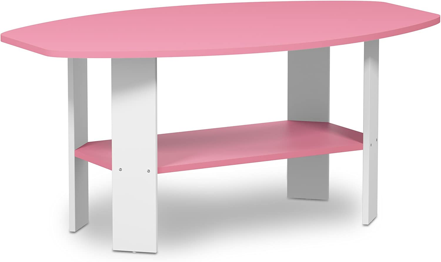 Furinno 11179PI Simple Design, Coffee Table, Pink White