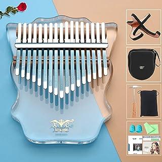 $34 » NAMBM Kalimba 17 Keys,Thumb Piano with EVA Carry Bag and Wooden Stand,Clear Crystal Mbira Transparent Acrylic Finger Piano...