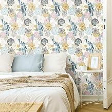 ورق جدران لاصق بيرينيال بلومز بنمط قشر والصق من رووم ميتس بتصميم زهور