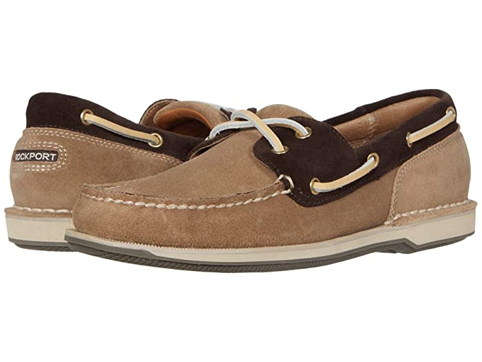 Rockport  Ports of Call Perth (Sand/Bitter Chocolate Suede) Mens Lace up casual Shoes