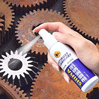 Volwco Rust Remover Anti-Rust Spray, 100ml Safe Rust Stain Remover Agent Paint Rust Dissolver for Metal Surface Chrome Pai...