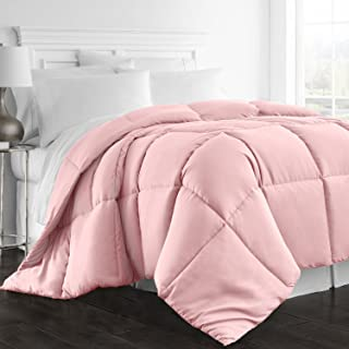 Beckham Hotel Collection 1300 Series - All Season - Luxury Goose Down Alternative Comforter - Hypoallergenic - Queen/Full - Pink