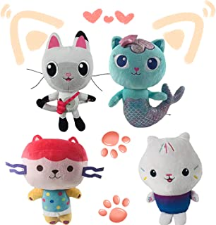 20/25 cm Gabby Dollhouse Toys Peluche, Mercat/Boîte pour bébé/Cakey/Pandy Paws Chat Doux en Peluche Jouets Cadeau Parfait ...