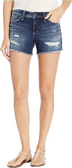 Suki Mid-Rise Curvy Fit Shorts in Indigo L53946SCP445