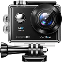 VanTop Moment 4U 4K Action Camera 20MP Underwater Waterproof Camera with EIS, External Microphone, Touch Screen, Slow Moti...