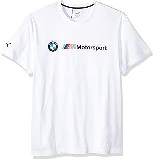 PUMA Men's Standard BMW Motorsport Logo Tee, White, L