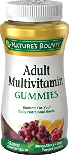 Adult Multivitamin by Nature's Bounty, Vitamin Supplement, Daily Nutritional Needs, Fruit Flavor, 75 Gummies