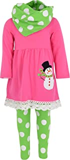 Unique Baby Girls Frosty The Snowman 3 Piece Christmas Outfit