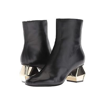 Emporio Armani Side Zip Ankle Boot (Black) Women