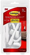 Command 051141993133 Large Utility Mega Pack, White, 14-Hooks, 16-Strips (17003-MPES)