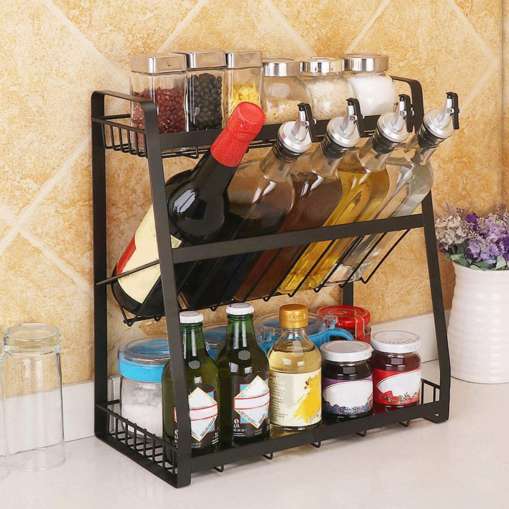 Spice Rack 2021 spring and summer Deluxe new Multi-Functional 3 Tier Arrangement Condiment