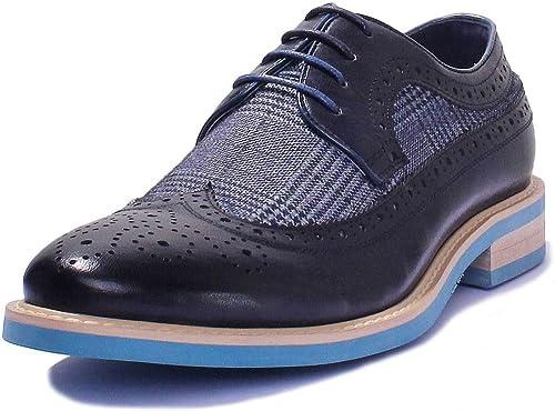 Justin Reece Chaussures Richelieu à Lacets Imprimé Tweed Tartan pour Homme