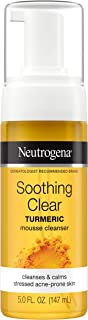 Neutrogena Soothing Clear Calming Mousse Facial Cleanser with Soothing & Calming Turmeric, Gentle Face Wash for Acne-Prone Skin, Paraben-Free, Oil-Free, Not Tested on Animals, 5 fl. oz