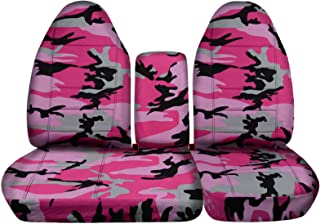 Totally Covers compatible with 1997-2000 Ford F-150 Camo Truck Seat Covers (Front 40/60 Split Bench) with Opening Center C...