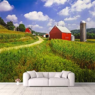 Modern 3D PVC Design Removable Wallpaper for Bedroom Living Room Wisconsin farm and corn field Wallpaper Stick and Peel Wa...