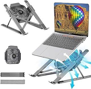 Support Ordinateur Portable, Support PC Portable à 6 Niveaux Réglables, Refroidisseur en Aluminium Ventilé Compatible avec...