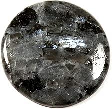 Gems&Jewels Natural Larvikite Blue Norwegian Moonstone Cabochon Round Gemstone 33.15ct IK19