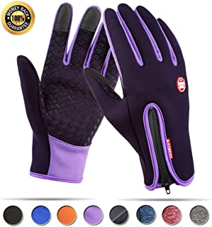 Touchscreen Winter Gloves for Warm iPhone iPad Bicycling Cycling Driving Anti-Slip Gloves Running Hiking Climbing Skiing Outdoor Sports for Men Women