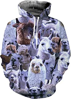 Unisex Realistic 3D Graphic Hoodies Pullover Cool Stylish Printed Sweatshirts Hooded with Big Pockets S-3XL