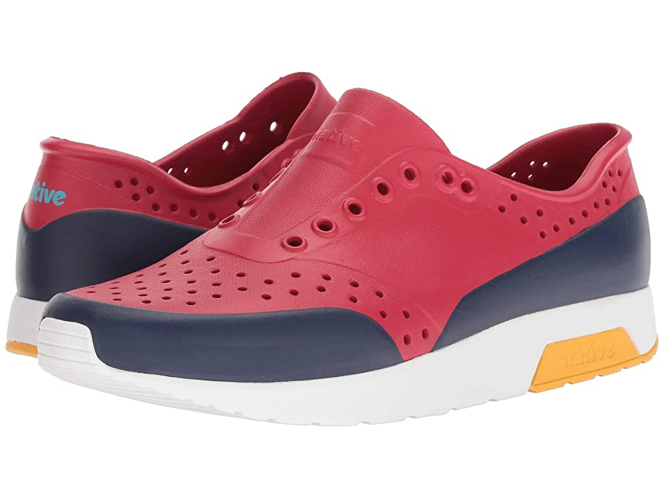 Native Shoes Lennox (Ski Patrol Red/Shell White/Beanie Yellow/Regatta Block) Athletic Shoes