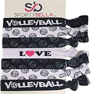 Infinity Collection Volleyball Hair Accessories, Volleyball Hair Ties, No Crease Volleyball Hair Elastics Set