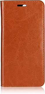 OnePlus 5 Wallet Case, Jaorty Genuine Leather Folio Flip Case Cover Book Design with Kickstand Feature with Card Slots/Cash Compartment for OnePlus 5 (5.5