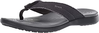 Crocs Santa Cruz Canvas Flip Men, Tongs Homme