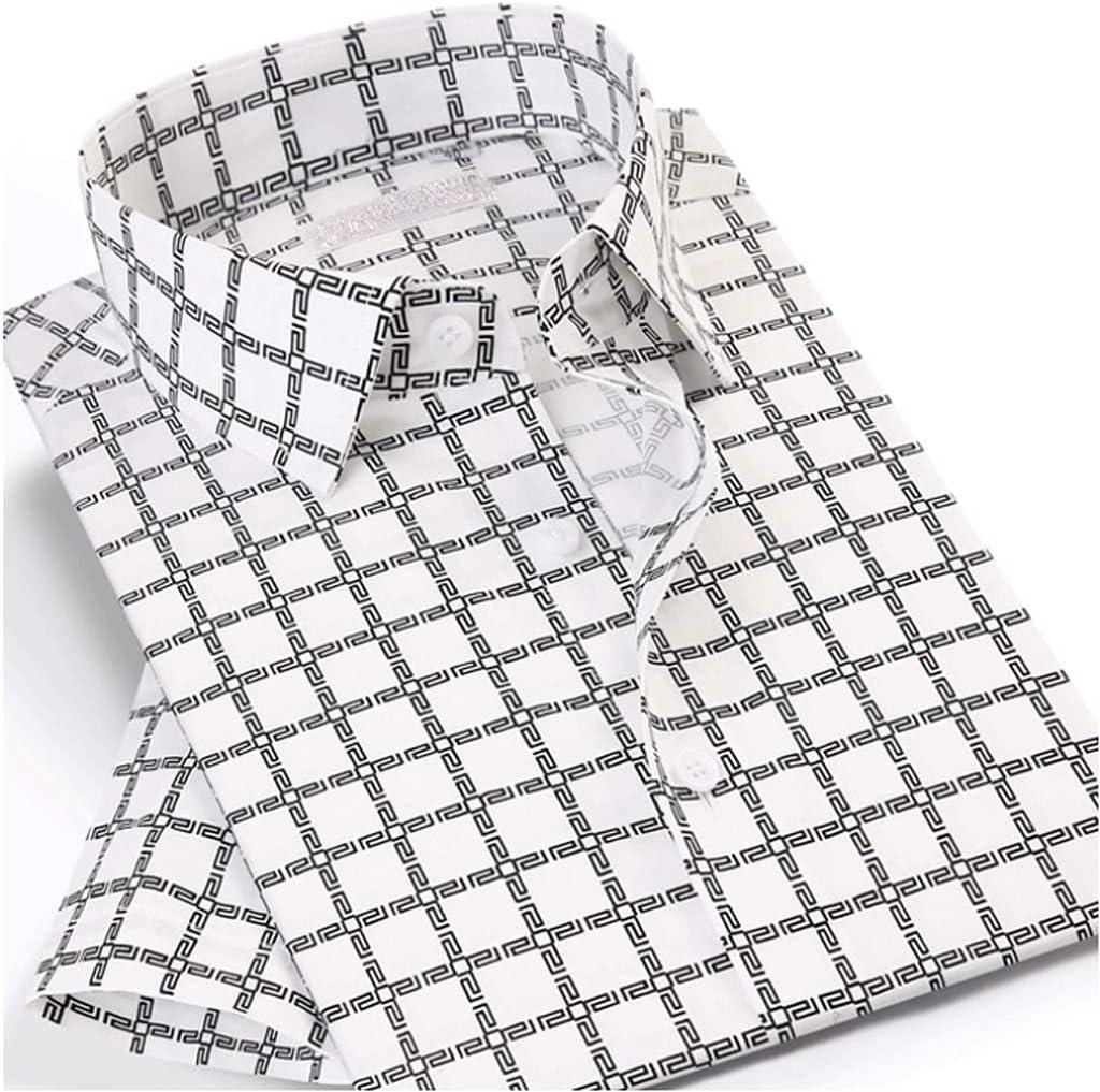 GYZX Men's Short Chicago Mall Sleeve Plaid Printed Shirt Checkered P Hawaiian New Shipping Free