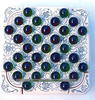 Masters Traditional Games Solitaire Box with Marbles