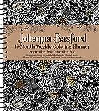 Johanna Basford 2018-2019 16-Month Coloring Weekly Planner Calendar...