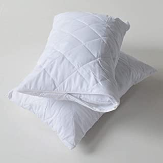 Anti Allergic Quilted Pillow Protector- 1 Pair