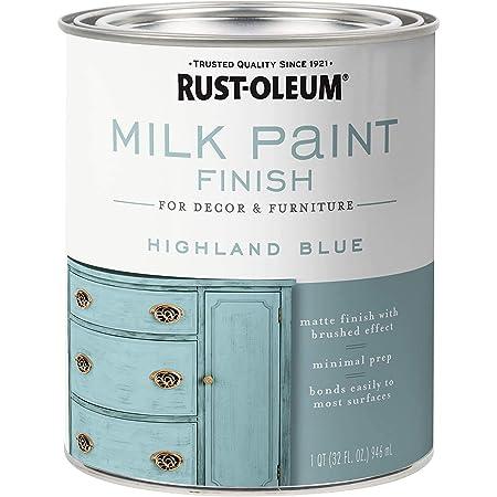 Rust-Oleum 331050 Milk Paint Finish, Quart (2 Pack), Highland Blue