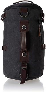 حقيبة ظهر قماشية اسطوانية كبيرة الحجم للرجال - للترفيه والسفر والمدرسة - لون اسود My15