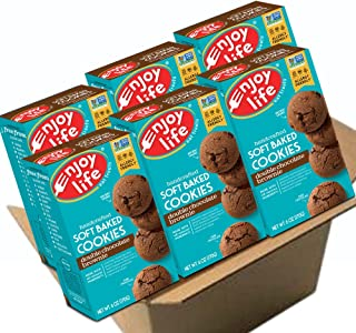 Enjoy Life Soft Baked Cookies, Soy free, Nut free, Gluten free, Dairy free, Non GMO, Vegan, Double Chocolate Brownie, 6 Boxes