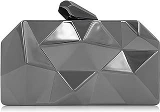 Women Clutches Fashion Geometic Evening Clutch Metal Clutch Purse