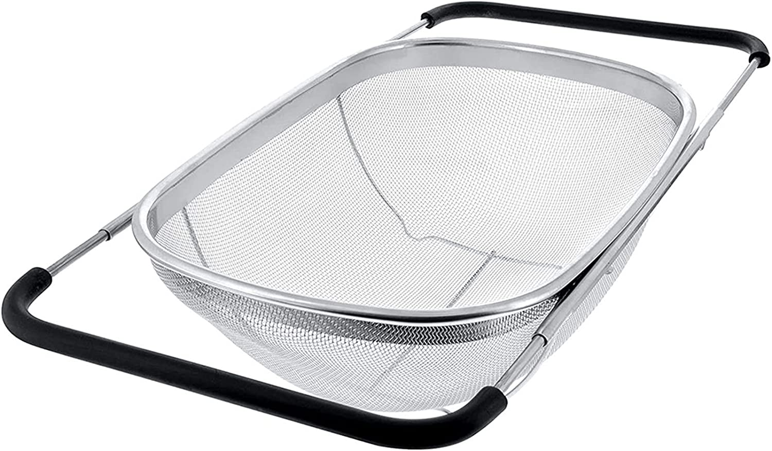 Colanders Retractable 100% quality warranty Drain Basket Rubber Stainless Reservation Grip Handle