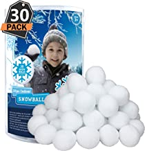 30 Pack Indoor Snowballs for Kids Snow Fight