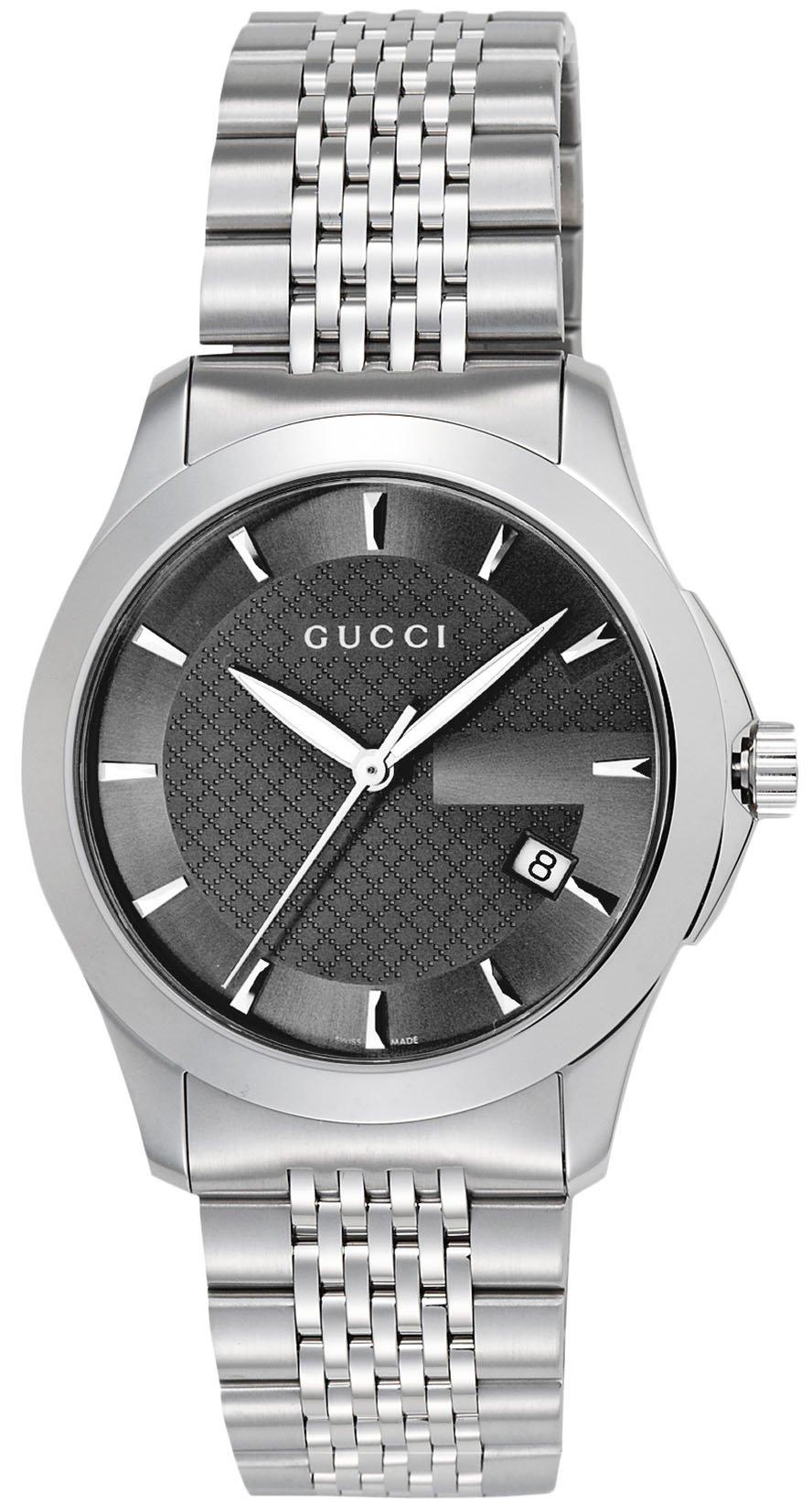[古驰]GUCCI 腕表 G-Timeless 126MD SS黑色 YA126402 男士