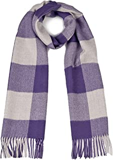 100% Pure Baby Alpaca Buffalo Plaid Scarf for Men and Women