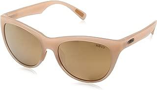 Revo Womens Polarized Sunglasses Barclay Cat Eye Frame 54 mm, Blush Frame, Champagne