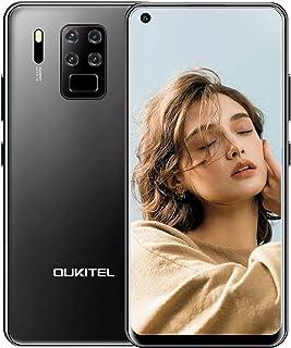 【2020】OUKITEL C18 Pro 4G SIMフリースマートフォン、6.55インチHD+ スクリーン全画面表示携帯電話、16MPクアッドカメラ、Helio P25 8コア4GB + 64GBスマホ本体、4000mAh大型バッテリー Android 9.0スマートフォン本体、デュアルSIM 指紋認証 顔認証 au不可 1年間保証付き (ブラック)