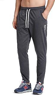 Baleaf Men's Fleece Jogger Sweatpants Thermal Running Pants Tapered/Open-Bottom