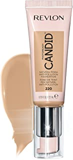 Revlon PhotoReady Candid Natural Finish Foundation, with Anti-Pollution, Antioxidant, Anti-Blue Light Ingredients, 220 Sand Beige, 0.75 fl. oz.