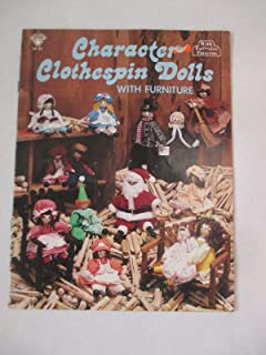 Character Clothespin Dolls with Furniture (Craft-Course Books, SP-33)